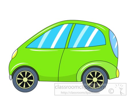 green alternative electric vehicle clipart